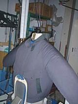 これがドイツの考え方。プレスではなく、衣類に中から風を送り立体的に仕上げる