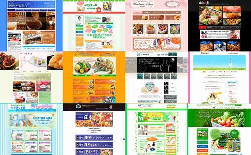 アミテス自慢のホームページの数々。お店や事業の特徴に合わせた、さまざまな切り口が自慢。プロのデザイナーの技と顧客を引きつけるテクが光る